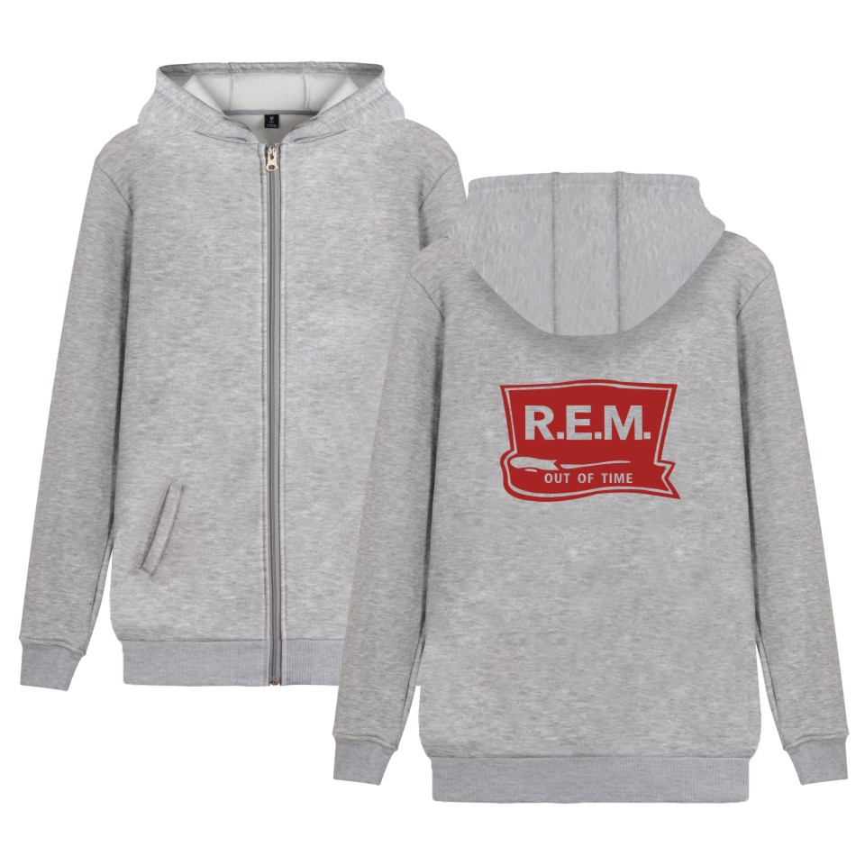 Rock Band R.E.M Hoodie Zipper Music Band C.R.E.A.M. Sweatshirt Winter Coat Plus Jacket R ...