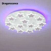 Dragonscence новый современный акрил светодио дный Потолочная люстра красочный свет для Гостиная Спальня звезды люстры