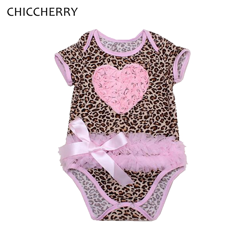 d9b64d44ef7d4 3d rose leopard baby girl clothes newborn lace bodysuits valentine toddler  outfits robe bebe fille kids