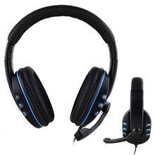 Jogo Handsfree Com Fio de Fone De Ouvido Estéreo de 3.5mm gaming Música com Microfone universal  Fone De Ouvido Para PS4/XBOX-ONE/PC PlayStation 4