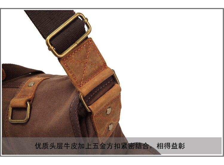 escola retro estilo militar bolsa crossbody dos homens de alta qualidade
