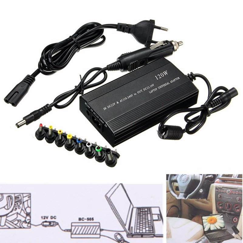 120W Universal EU Plug Laptop Car DC Charger Notebook AC Adapter Power Supply New Laptop Adapter Power Charger For Lenovo 45w 14 tip adjustable output voltage universal power charger charging ac adapter for laptop notebook aqjg