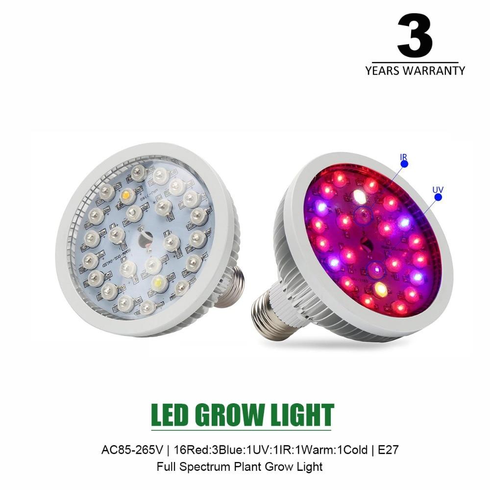 Led Grow Light E27 24leds High Power Led Plant Grow Light