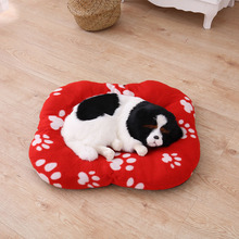 Autumn Winter Pet Mat Warm Coral Velvet Nest Paw Print Pad Cat Small Dog Puppy Kennel Bed Thickened Cushion 4 Colors Choose