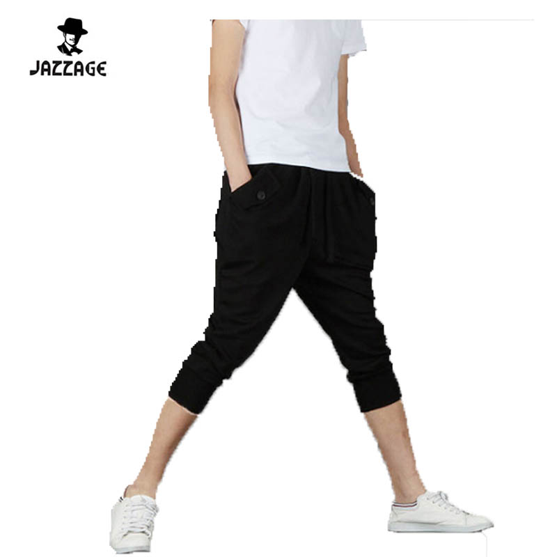 Pants Male Trousers Baggy Harem Loose Casual Mens GRWS Short Homme Leisure Size-Xxl