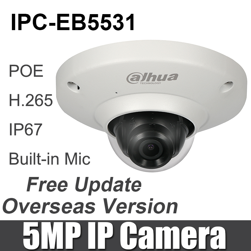 Original IPC EB5531 IP camera 5MP Panoramic Network Fisheye Camera with POE h 265 264 IP67