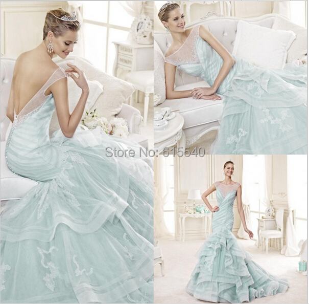 Color Wedding Dress Mermaid New Fashion Vestidos De Novia Spaghetti ...