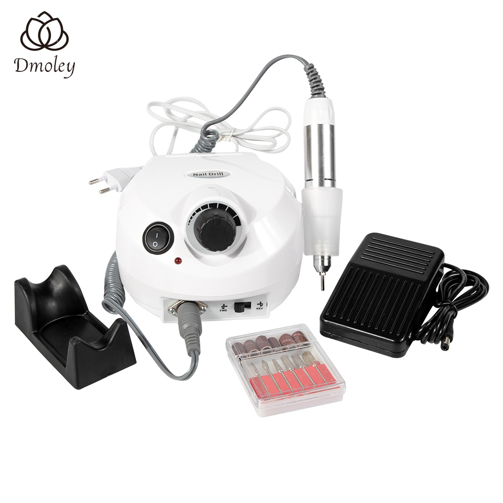30000RPM Electric Nail Drill Manicure Machine Home Use Nail Art Equipment Manicure 6 Drill Bits Sanding