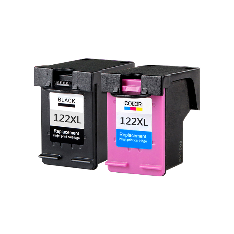 Dat 2pcs Ink Cartridge Compatible for H P <font><b>122</b></font> XL for <font><b>HP</b></font> Deskjet 1000 1050 2000 2050 2050s 3000 3050A 3052A 3054 1010 1510 2540 image