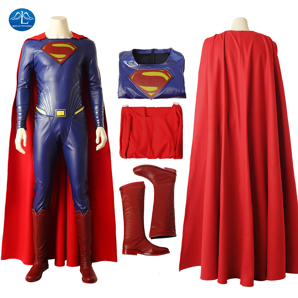 Justice League Superman cosplay Costumes Superhero Halloween Costumes For Men Custom Made Cosplay Superhero Superman Costume