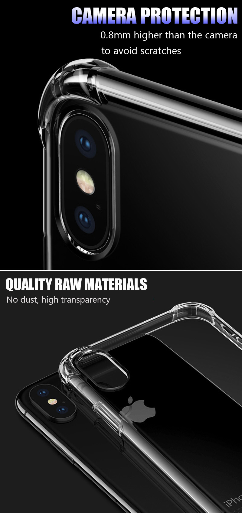 KIPX1046_13_Luxury Shockproof Transparent Cases for iPhone XS XR XS Max Soft Silicone Phone Case for iPhone 5S SE 6S 7 8 Plus Back Cover