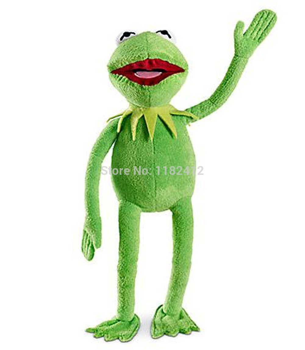The Muppets Kermit Frog Plush Toy Cute Stuffed Animals 45cm 18'' Kids Toys For Children Gifts