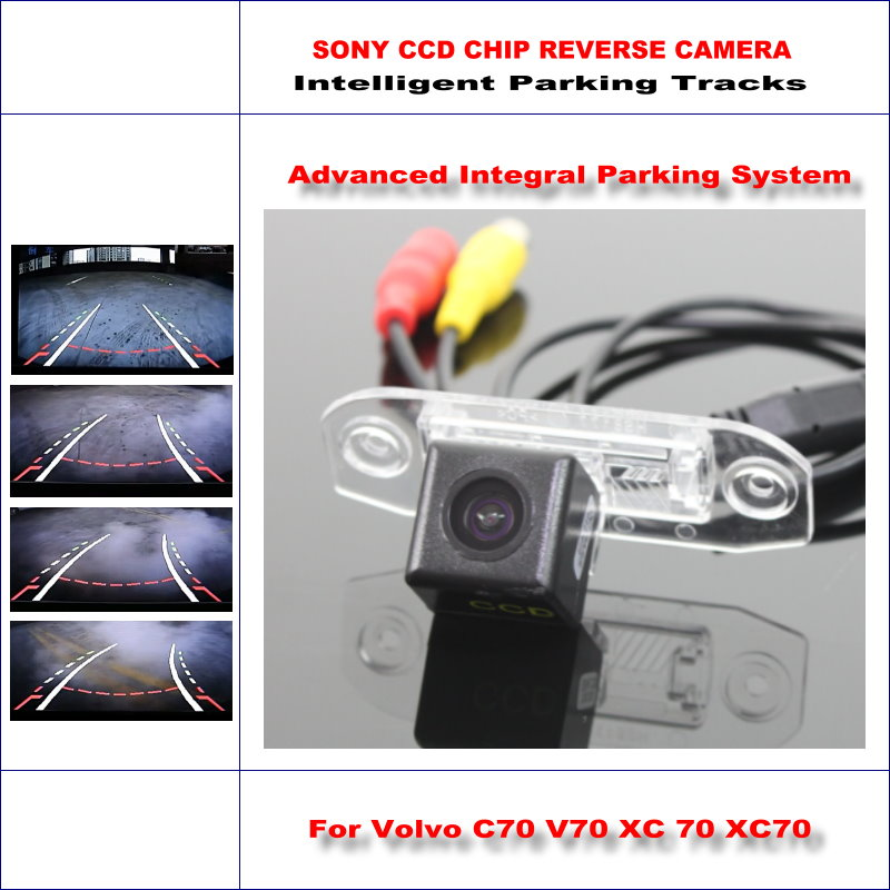 Intelligent Parking Tracks Camera For Volvo C70 V70 XC 70 XC70 2006~2015 Backup Reverse / NTSC RCA AUX HD SONY 580 TV Lines image