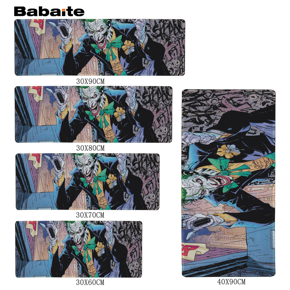 Babaite The Joker Control Edition Super large 900 * <font><b>400</b></font> *2mm and 700 * <font><b>300</b></font> * 2mm mouse pad with desk lock for desktop and laptop image