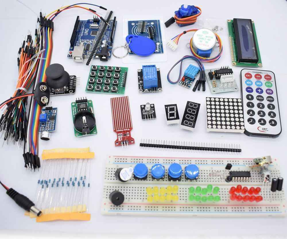 Detail Feedback Questions About Sunfounder 1602 Lcd Starter Kit For Arduino Thermistor Circuit Further On A Breadboard Circuits Newest Rfid Uno R3 Upgraded Version Learning Suite With Retail Box