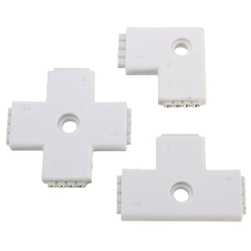 High Quality 4 Pin Quick For 3528 5050 RGB Led Light Strip L / + / T Type AdapterHigh Quality 4 Pin Quick For 3528 5050 RGB Led Light Strip L / + / T Type Adapter