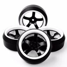 RC Drift Tires 1/10 Wheel Rim Fit HPI 1:10 On-Road Racing Car 3 Degree 12mm Hex Accessory