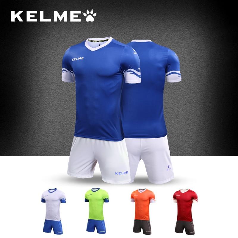 KELME Men futebol Soccer Jerseys Set Youth survetement Football Training Suit maillot de foot custom your