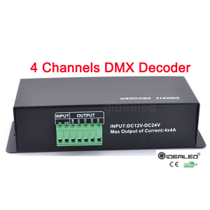 Image 3 - DMX Decoder RGBW LED 4 channels  32A led dimmer driver for RGB,led dmx decoder dmx512 controller DC12 24V DMX512 Dimmer