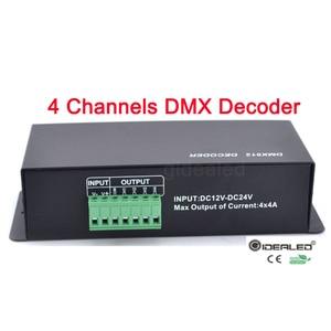 Image 3 - DMX فك RGBW LED 4 قنوات 32A led باهتة سائق ل RGB ، led dmx فك dmx512 تحكم DC12 24V DMX512 باهتة