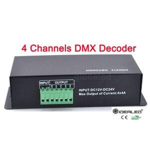 Image 3 - DMX dekoder RGBW LED 4 kanal 32A led dimmer sürücü RGB, led dmx dekoder dmx512 denetleyici DC12 24V DMX512 Dimmer
