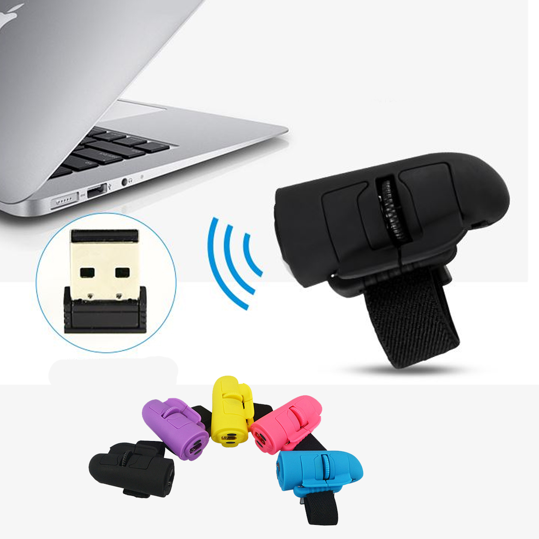 NOYOKERE Universal 2.4GHz USB Wireless Finger Rings Optical Mouse 1200Dpi For All Notebook Laptop Tablet Desktop PC 2 4ghz 1200dpi usb 2 0 wireless optical mouse for pc laptop notebook