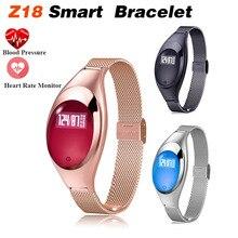 2018 New Z18 Smart Bracelet Women Wristband Bluetooth Smart Watch Blood Heart Rate Monitor Pedometer Fitness Tracker Andro IOS