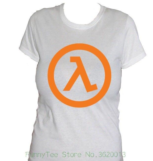 Womens Tee Fm10 Camiseta De Mujer Mitad Vida Half - Life Games Idea Regalo Logo Videojuegos Cool Ladies Tees