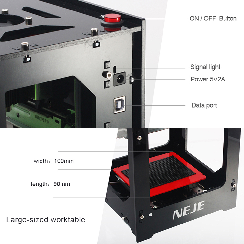 Image 2 - NEJE DK 8 KZ1000mW Professional DIY Mini USB Laser Off line Operation Engraver Cutter Automatic Print Engraving Carving MachineWood Routers   -