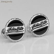 Fashion Jewelry Bottle Cap Cufflinks Nuka Cola Cufflinks High Quality Gold/Silver Plated Cufflinks Factory Retail Novelty