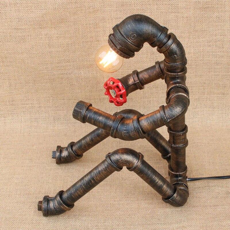 Kunst Ambiente luals loft industrie wasserleitungen retro tischle roboter modell