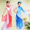 Gasa Mujeres Escenario Bailando Traje Nacional Chino Clásico Femenino Yangko Danza Vestido con Trajes De Danza Oriental Headwear 89
