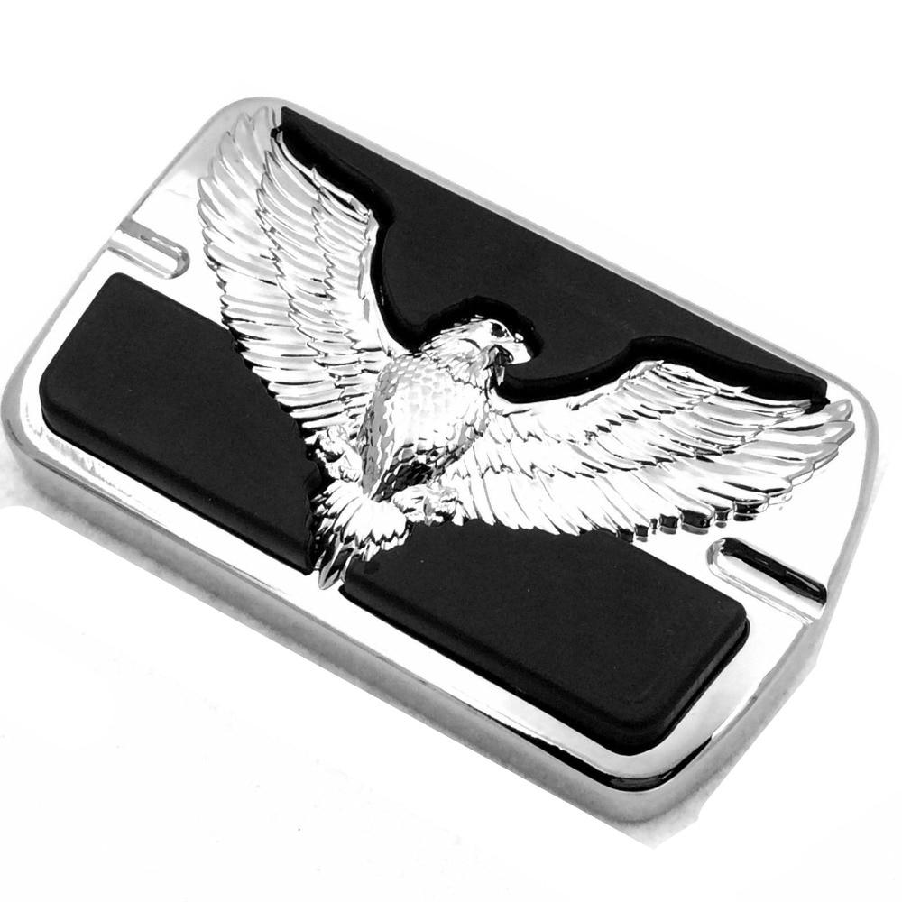 Motorcycle Eagle Hawk Emblem Foot Large Brake Pedal For Harley Electra Glide Softail Dyna FLHR Tour Glide