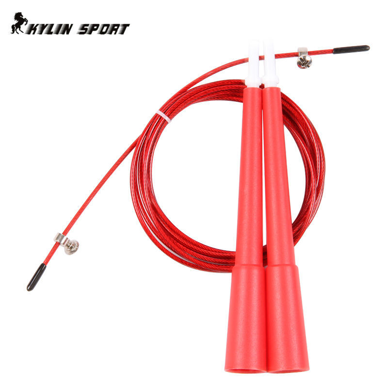 2015 Sport Comba Longer Handle The Speed Jump Rope Skipping Tricks Free Shipping Fitness Professional Racing Game Steel Wire