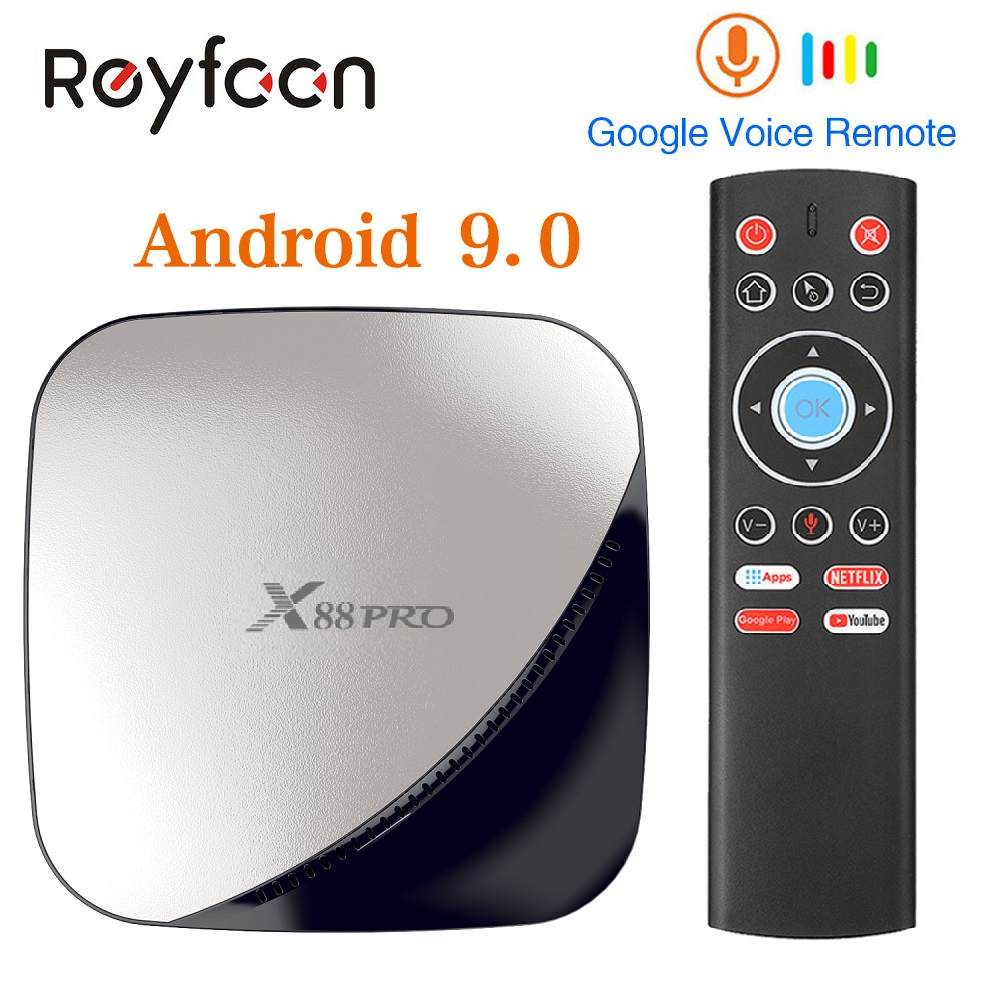 X88 PRO <font><b>Android</b></font> 9,0 Smart <font><b>TV</b></font> Box 4G 64G Rockchip RK3318 <font><b>Octa</b></font> <font><b>Core</b></font> 5G Wifi 4K HD Set Top Box Google Media YouTube X88PRO image