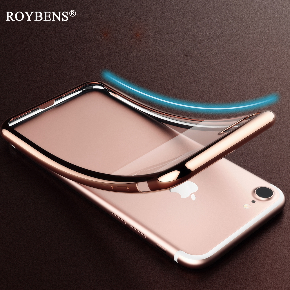 Phone Bags & Cases Rose Gold Clear Soft Case For Iphone 6 For Iphone 6s Case Plating Bumper Transparent Silicone Tpu Cover For Iphone6 Iphone6s