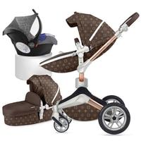 Горячая мама 2 в 1 роскошный 3 в 1 детская коляска высокий пейзаж свет сложенный четыре колеса детская коляска Стандарт CE Бесплатная доставка