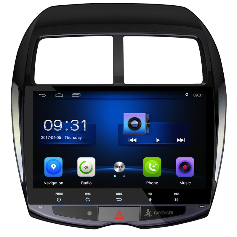 10.2 Android 6.0 Quad Core Car GPS Player for Mitsubishi ASX 2010 2011 2012 NO DVD with 1GB Stereo Radio Audio Head unit 4G image
