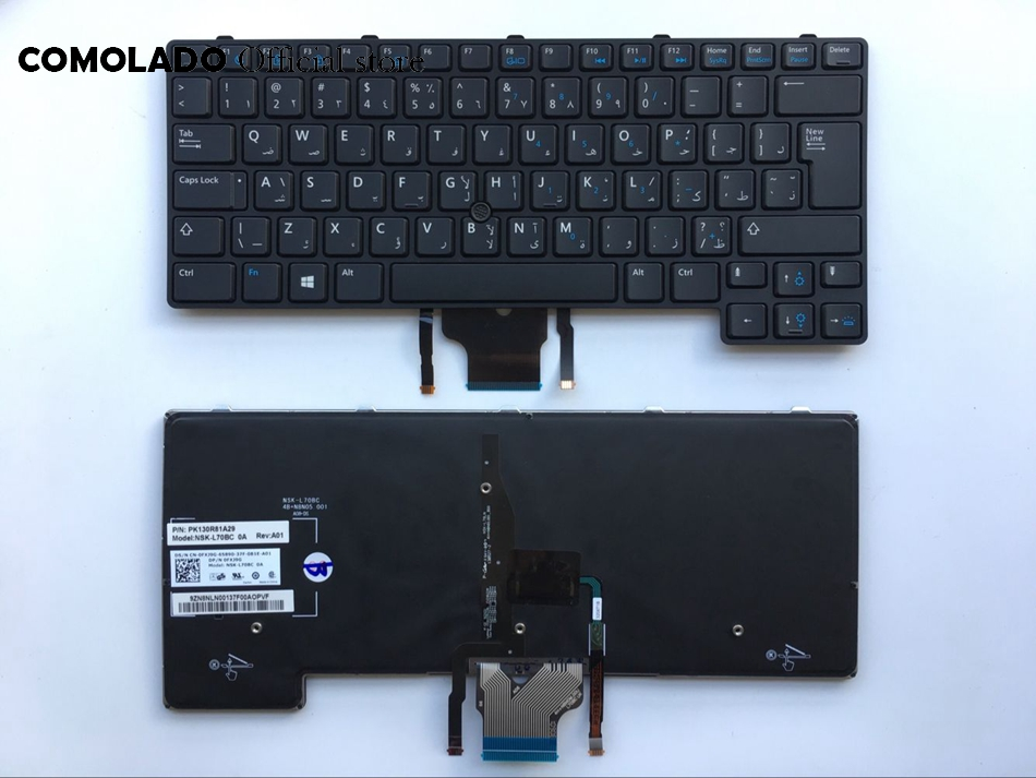 AR Arabic keyboard for Dell Latitude E6430U E6430S E6330 6530U 6430u with point laptop keyboard AR Layout
