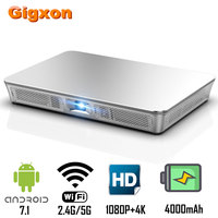 Gigxon P9 mini projector DLP 1920x1080P Max 4K Support 200 Ansi Android 7.1 8GB ROM 3D HD WIFI Proyector Portable Beamer