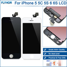AAA Quality LCD for iPhone 5 Touch Screen Disgitizer Replacement for iPhone 5S Display Assembly for 5C 6 LCD Screen(China)