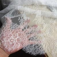 3M long cils dentelle garniture mariage traditionnel dentelle tissu blanc rouge violet nappe bricolage artisanat