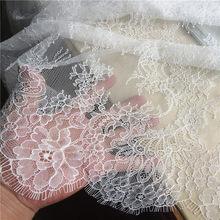 3M de encaje de pestañas largas ribete tradicional tela de encaje de boda blanco rojo violeta mantel de mesa manualidades DIY