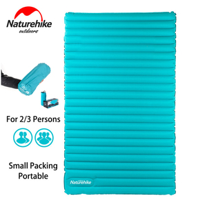 Naturehike Outdoor Camping Mat 2-3 Person Inflatable Sleeping Pad Ultralight Air Mattress TPU Travel Hiking Drifting Tent Bed