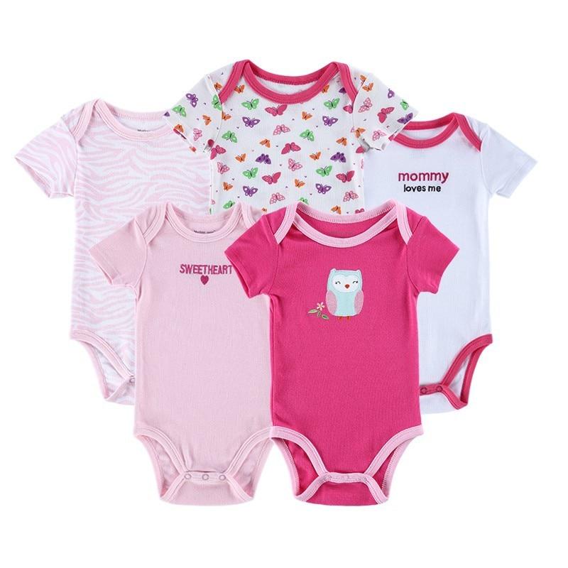 ef575bcca 5pcs  lot Hanging Football Short Sleeve Baby Bodysuits Summer Baby ...