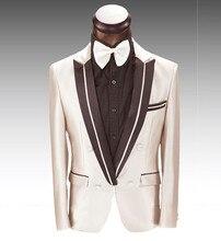 Latest Coat Pant Designs Beige Champagne Men Suit Slim Fit 2 Piece Prom Tuxedo Custom Suits Groom Formal Blazer Terno Masculino