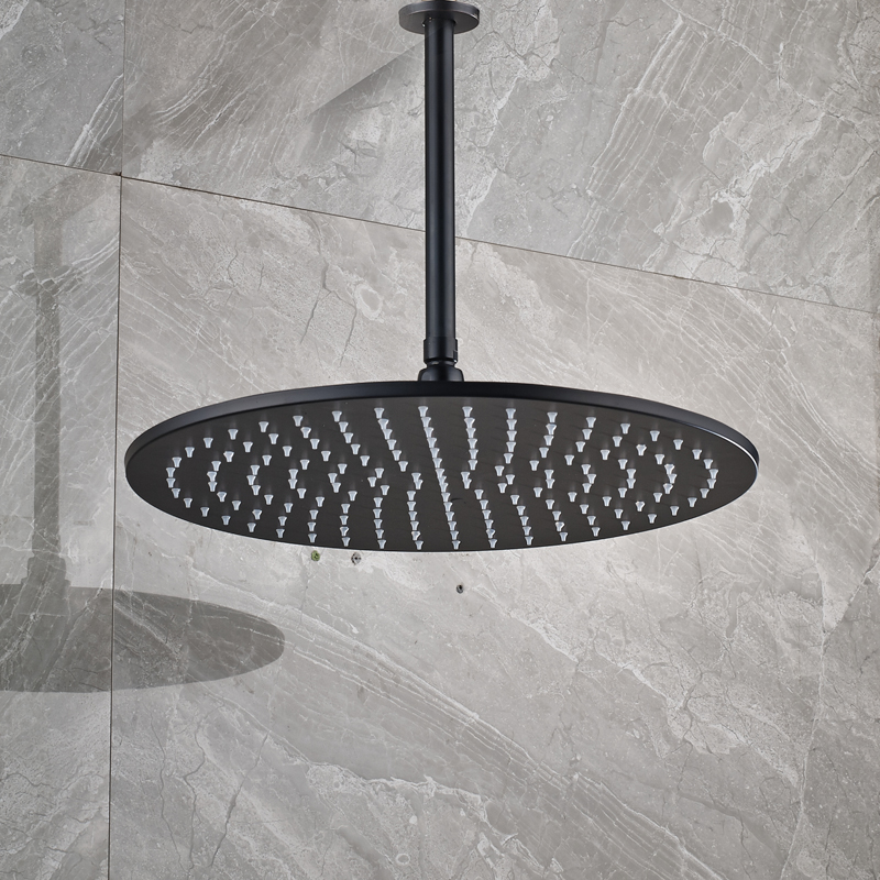 Black-Bronze-16-Big-Rainfall-Shower-Faucet-Head-Bathroom-Ceiling-Mounted-40cm-Round-Showerhead-with-Shower
