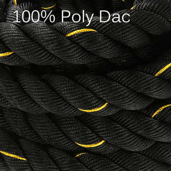 "TOMSHOO 10M/12M/15M Heavy Black 1.5"" Dia.Undulation Battling Rope Physical Body Strength Training Sport Fitness Exercise Workout"