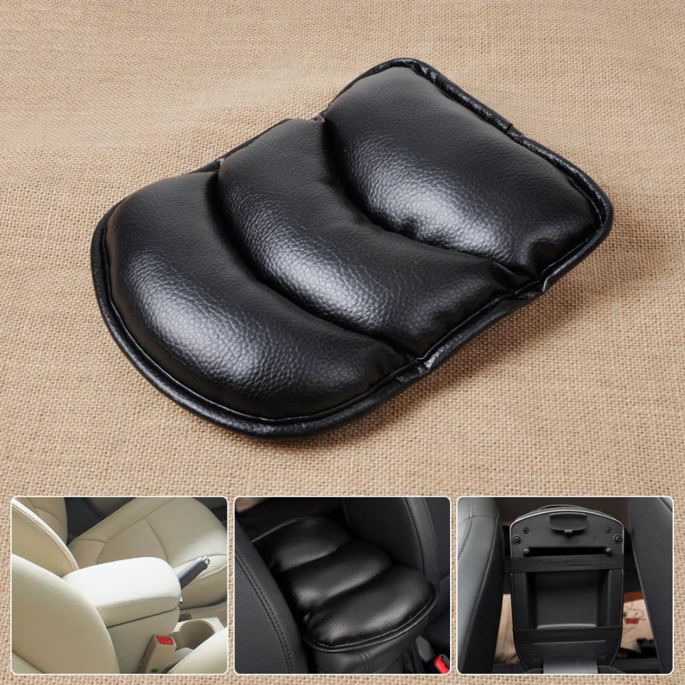 DWCX New Black Car Armrest Console Pad Cover Cushion Support Box Armrest Top Soft Mat Fit For Lada Granta Audi A4 A6 Polo Golf