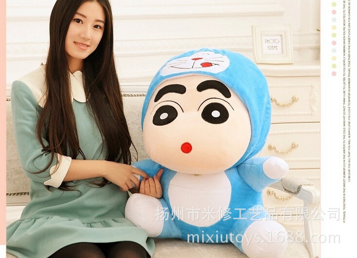 lovely Crayon turned to Doraemon Plush toy soft pillow toy, Christmas Gift w0972